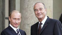 Poutine rend hommage à Chirac, le dirigeant qu'il admirait le
