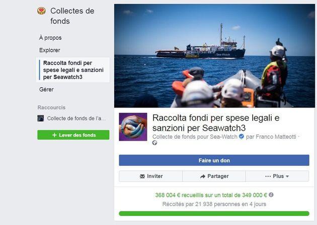 La cagnotte lancée sur Facebook pour soutenir la capitaine