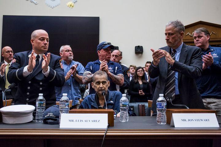 Det. Luis Alvarez appears before Congress.