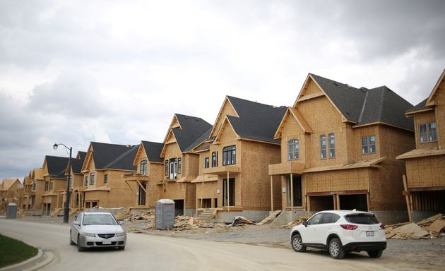 A row of houses under construction Kleinburg, Ont., about 50 kilometres north of downtown Toronto, May,