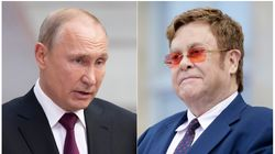 Putin rebate críticas de Elton John após censura de cenas gays de 'Rocketman' na