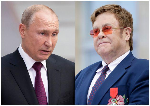 Vladimir Putin e Elton John divergem sobre respeito a direitos LGBT na