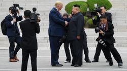회담을 마친 트럼프가