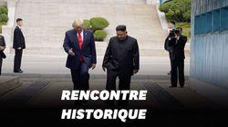 Trump entre en Corée du Nord et serre la main de Kim Jong
