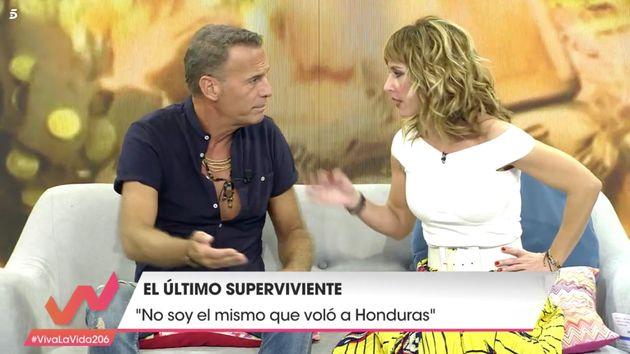 El cabreo de Emma García con Carlos Lozano en 'Viva la vida':
