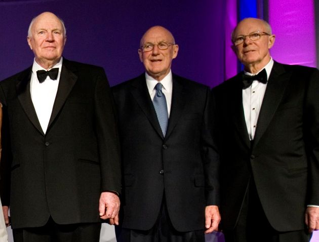 James K. Irving, left, Arthur Irving, middle, and Jack Irving, right, at the Business Hall of Fame gala...