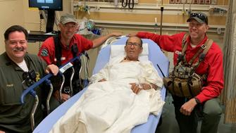 A 73-year-old man is recovering after spending a week lost in California's Angeles National Forest.