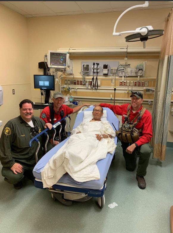 Eugene Joe, 73, is recovering after spending a week lost in California's Angeles National Forest.