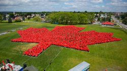 Ontario Community Breaks World Record For Largest Human Maple