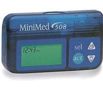 A Medtronic MiniMed 508 insulin pump, one of the models in the