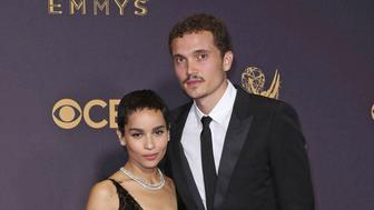 Photo by: RE/Westcom/STAR MAX/IPx 6/29/19 Zoe Kravitz marries Karl Glusman in Paris. 09/17/17 Zoe Kravitz, Karl Glusman, The 69th Emmy Awards at the Microsoft Theater (Los Angeles, CA.)