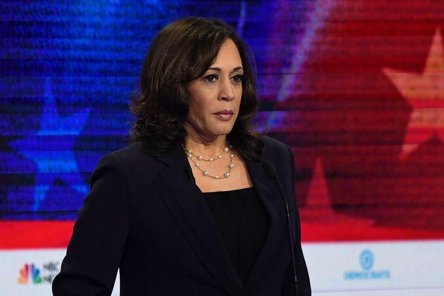 Kamala Harris participates in the second Democratic primary debate on June 27,
