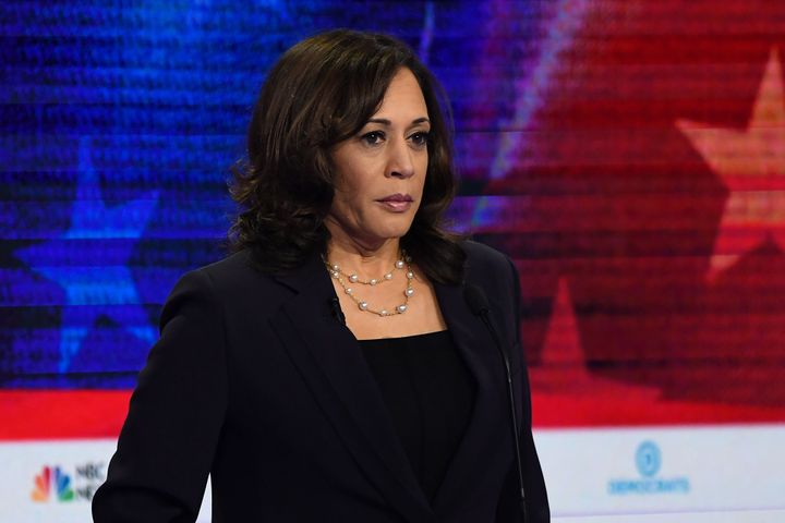 Kamala Harris participates in the second Democratic primary debate on June 27, 2019.