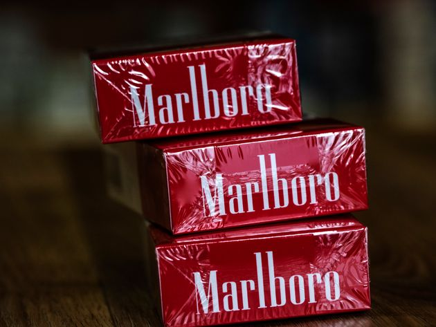 A pack of Philip Morris International Inc. Marlboro Red cigarettes seen in a