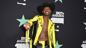 Lil Nas X poses in the press room at the BET Awards on Sunday, June 23, 2019, at the Microsoft Theater in Los Angeles. (Photo by Richard Shotwell/Invision/AP)