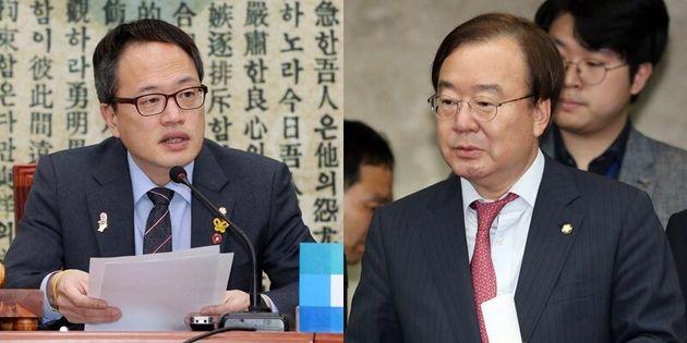 왼쪽부터 박주민 최고위원, 강효상