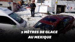 Guadalajara sous deux mètres de glaces après une tempête de grêle