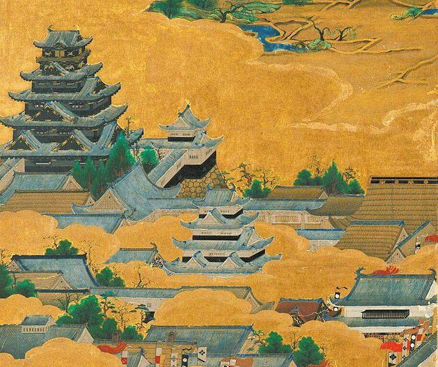 「大坂夏の陣図屏風」に描かれた豊臣時代の天守