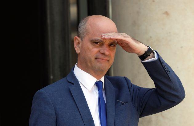 Jean-Michel Blanquer à la sortie d'un conseil des ministres début