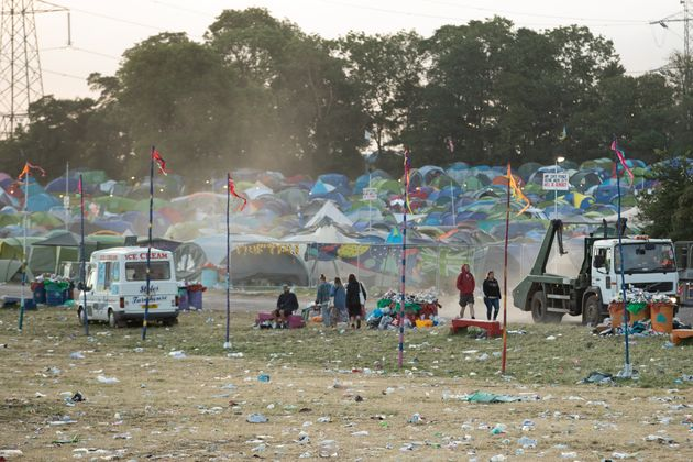 The man was found dead in his tent at Glastonbury Festival on