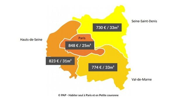 Des moyennes de loyers en Île-de-France selon