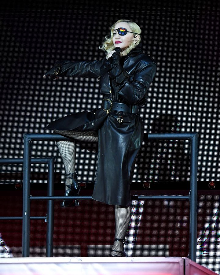 """Madonna entered the Pride Island stage Sunday with a performance of """"Vogue."""""""