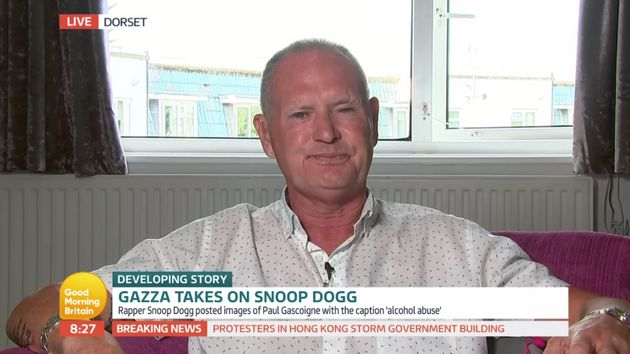 Paul Gascoigne has been embroiled in a public row with Snoop