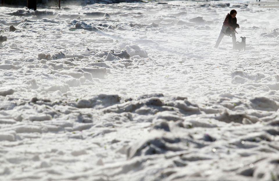 Πρωτοφανής χαλαζόπτωση στο Μεξικό - «Θάφτηκαν»