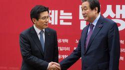 황교안 대표가 김무성 전 대표와 첫 단독 만찬을