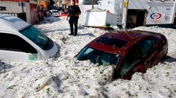Freak Hail Storm Hits Guadalajara, Mexico, Blanketing City In
