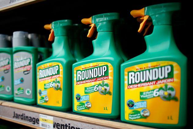 Roundup, un herbicide contenant du glyphosate est produit par