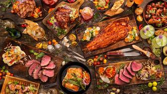 With: Salmon, Steaks, Beef Roast,pork tenderloin,pork chops, Halibut, Chicken wings, grilled fruit, breads and Drinks