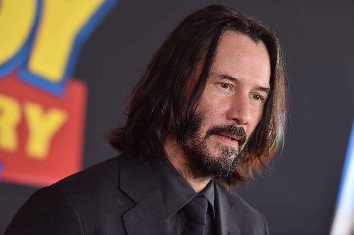 Canadian treasure Keanu Reeves at the premiere of Toy Story 4.