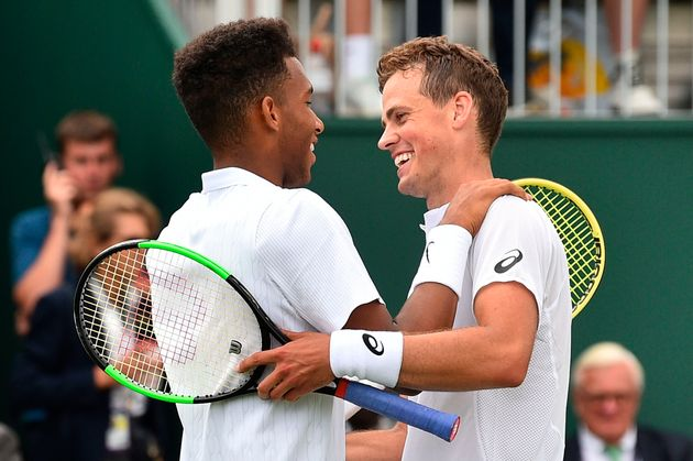 Mutual respect and admiration from two of Canada's best (Pospisil is on the