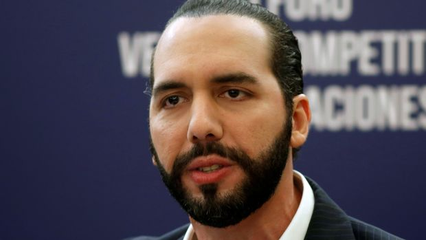 President of El Salvador Nayib Bukele speaks during a joint news conference after the Competitive Advantage of Nations Forum in San Salvador, El Salvador, June 27, 2019. REUTERS/Jose Cabezas