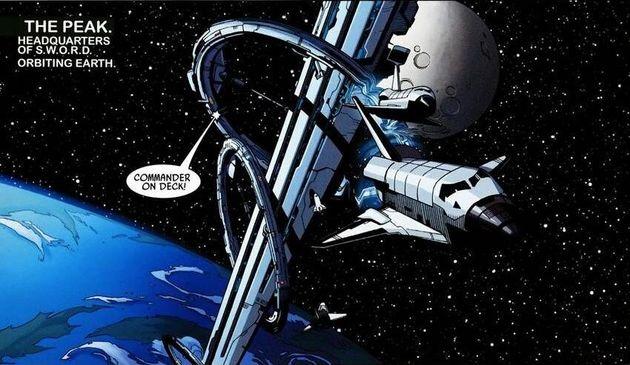 코믹스에서S.W.O.R.D의 기지로 설정된 우주선