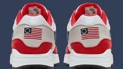 Nike retire une chaussure avec l'ancien drapeau américain face aux