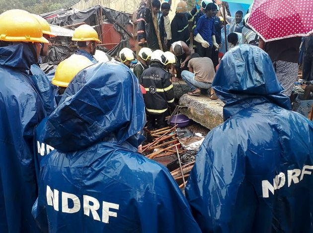 Woman Rescued From Malad Wall Collapse Debris, 10-Year-Old Child Still