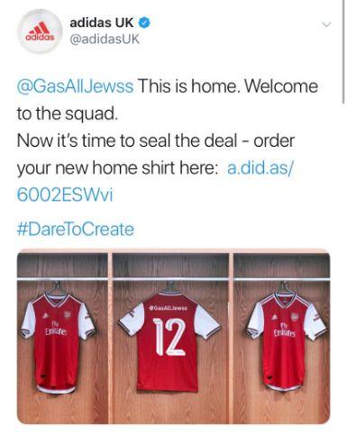 Cette campagne d'Adidas pour le nouveau maillot d'Arsenal a très mal