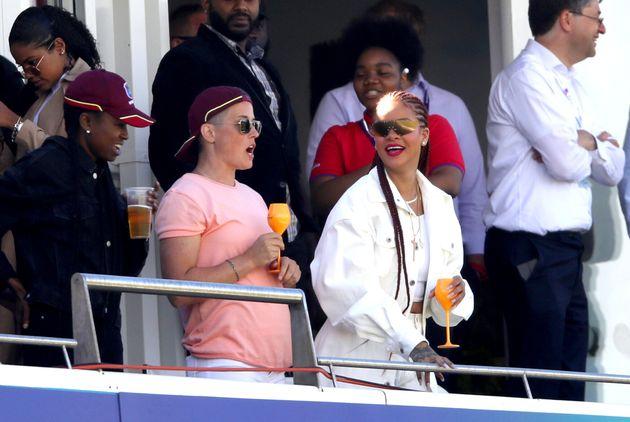 Literally Rihanna at a literal cricket