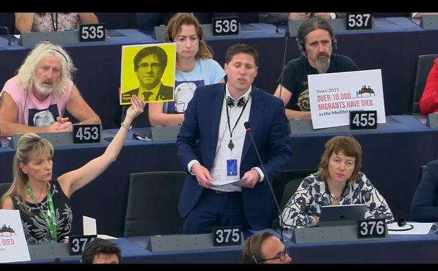 Coup d'éclat des pro-Brexit au Parlement européen pour leur 1ère