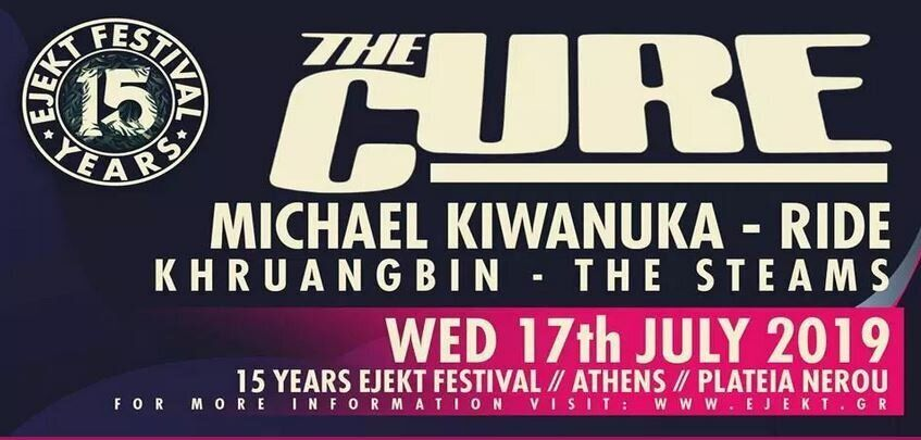 Eject Festival: The Cure, Michael Kiwanuka, Ride, Khruangbin, The Steams - Η πιο καυτή μέρα του