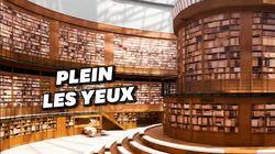 Le Grand Palais transformé en bibliothèque pour le défilé