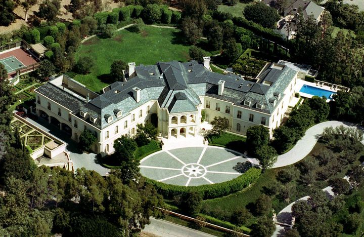 The lavish chateau built by Aaron Spelling is considerably larger than the White House.