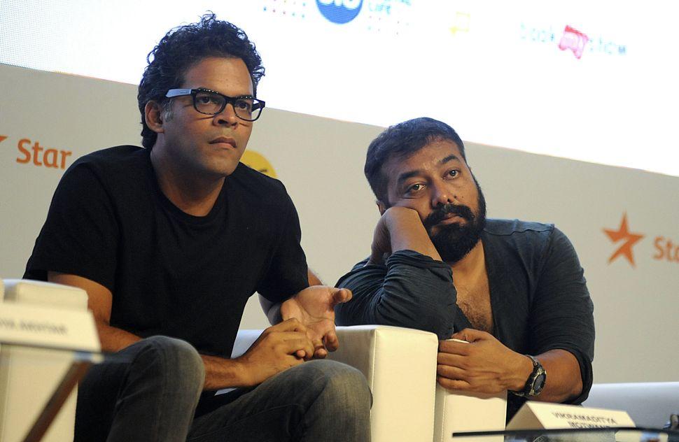 Bahl's partners at Phantom Films, Vikram Motwane (L) with Anurag Kashyap