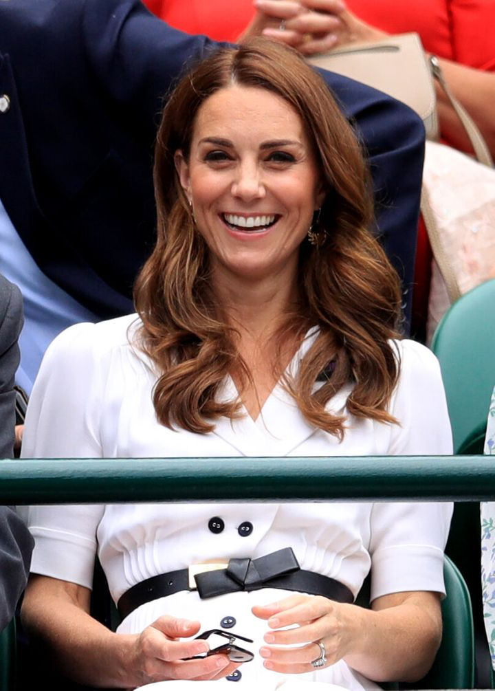 All smiles from the duchess!