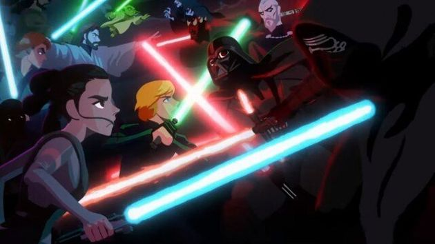 Cena do mini curtaJedi vs. Sith - The Skywalker