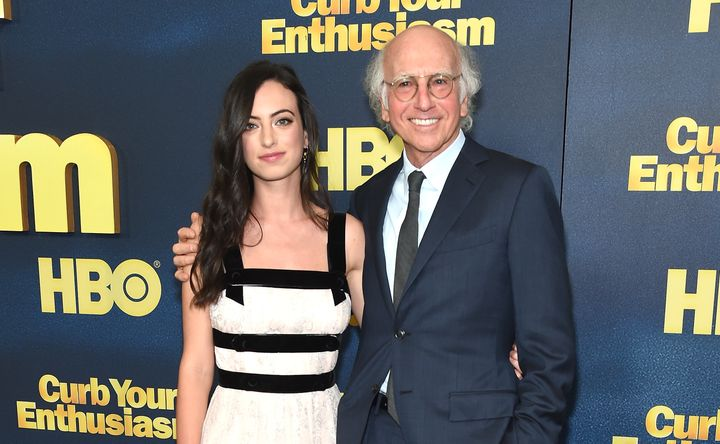 "Larry David with his daughter Cazzie at the ""Curb Your Enthusiasm"" Season 9 premiere on Sept. 27, 2017."