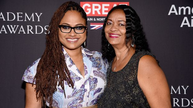 BEVERLY HILLS, CA - OCTOBER 27:  Ava DuVernay (L) and mother Darlene Maye attend the 2017 AMD British Academy Britannia Awards Presented by American Airlines And Jaguar Land Rover at The Beverly Hilton Hotel on October 27, 2017 in Beverly Hills, California.  (Photo by Kevork Djansezian/BAFTA LA/Getty Images for BAFTA LA)