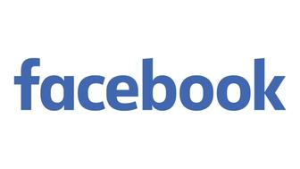 FACEBOOK lettering logo, graphic element  on white